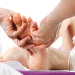 Reflexology balancces the body's energy, pathways through pressure points on your foot that directly affect the muscle and vital organs in your body.